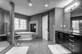 black and white bathroom vanity grey white brown color scheme
