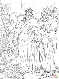king hezekiah paid tribute to assyria coloring page free