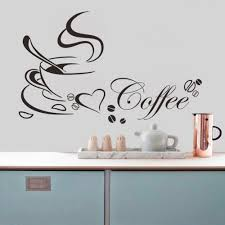 popular wall quotes stickers buy cheap wall quotes stickers lots coffee cup with heart vinyl quote restaurant kitchen removable wall stickers diy home decor wall art