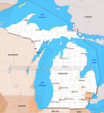 Us Map Michigan by Where Is Michigan Located On The Map