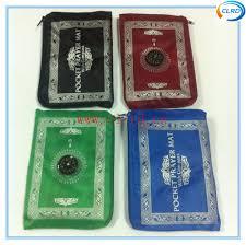 Islamic Prayer Rugs Wholesale Wholesale Travel Pocket Prayer Rug With Compass Islamic Ramadam