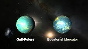 Peters Projection World Map by Gall Peters Vs Equatorial Mercator Earthmap Animation Youtube