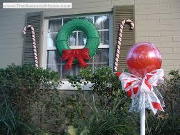 Christmas Yard Decoration Images Outdoor U201ccandy U201d A Christmas Decorating Idea The Seasonal Home