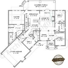 austin river rustic floor plan mountain house plans