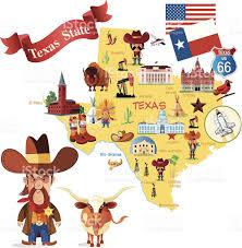 San Antonio Texas Map Cartoon Map Of Texas Stock Vector Art 495305055 Istock