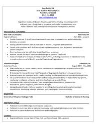 Registered Nurse Resume Examples by Registered Nurse Resumes Experienced Nursing Resume