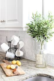 DIY Pressed Tin Kitchen Backsplash Blesser House - White tin backsplash