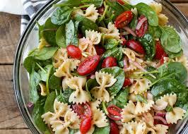 Pasta Salad Ingredients Spinach Pasta Salad Barefeetinthekitchen Com