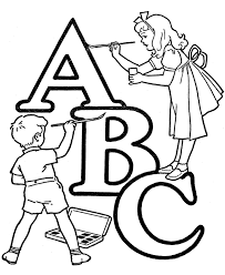 alphabet coloring pages printable abc coloring kids alphabet