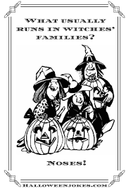 black and white halloween joke cartoon three witches cpal