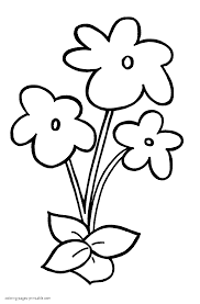 easy flowers coloring pages for preschoolers