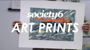 art prints from society6 product video youtube