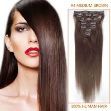 Indian Remy Human Hair Clip In Extensions by Inch Long Premium Straight Clip In Remy Human Hair Extensions 4