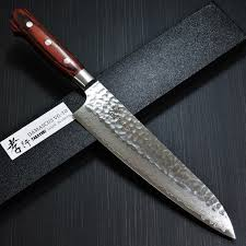 chefslocker japanese chefs knives asian new this beautiful line layered steel knives are crafted out layer folded damascus with core one the best steels for