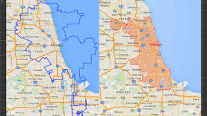 Chicago Suburbs Map So Exactly How Much Bigger Is La U0027s Land Area Over Chicago U0027s Over