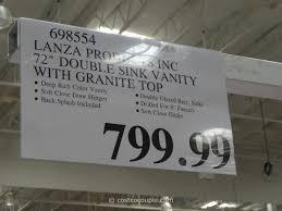 Costco Bathroom Vanity by Lanza 72 Inch Double Sink Vanity With Granite Top