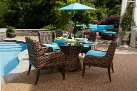 Martha Stewart 7 Piece Patio Dining Set - 5 piece all weather tahiti outdoor dining set