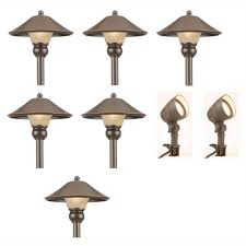 halloween pathway lights hampton bay low voltage bronze outdoor integrated led light kit 8