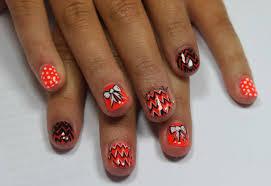 orange gel nail designs images nail art designs
