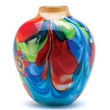 Decorative Glass Vases Oval Art Glass Vases Ebay