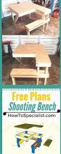 Building Plans For Picnic Table Bench by Best 25 Shooting Bench Ideas On Pinterest Shooting Table