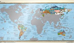 Peters Projection World Map by Wall Maps Of The World
