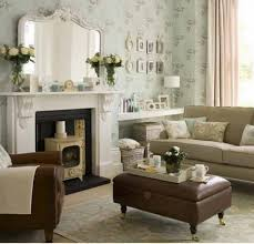 Mirror Over Mantle Decorating Living Room With Furniture Design - Wallpaper living room ideas for decorating