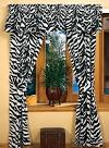 Zebra Print Curtains | Luxury Black And White Curtains