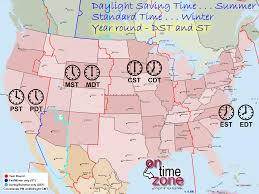 The Map Of The United States Of America by Ontimezone Com Time Zones For The Usa And North America