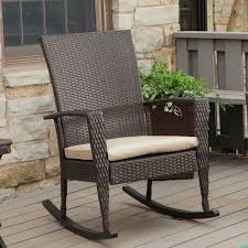 Rocking Chair Cusion Coral Coast Soho High Back Wicker Rocking Chair With Free Cushion