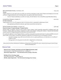 Ex Military Resume Examples by Substitute Teacher Resume Example