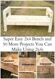 Basic Wood Bench Plans by Easiest 2x4 Bench Plans Ever Outdoor Sofa Ana White And Board