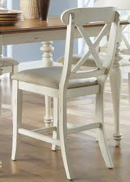 liberty furniture ocean isle x back counter height dining chair