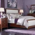 Bedroom Design: Excellent And Beautiful Flower Patterned Purple ...