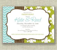 couples wedding shower invitations