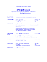 Cosmetologist Resume Objective High Student Resume Objective Examples Sample Resume