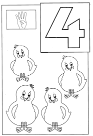 number 4 coloring page coloring for kids 8012