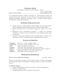 Sample Resume Objectives For Web Developer by Resume For Software Engineer Software Engineer Resume Templates