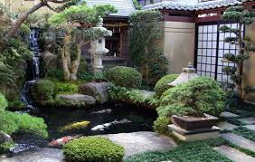 lawn u0026 garden great backyard japanese garden with large koi pond