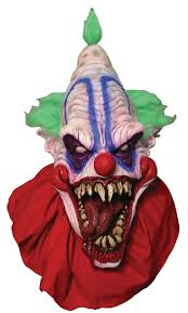 halloween costume mask big top scary clown mask in masks nightmarefactory com