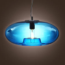 Blue Pendant Lights by Lightinthebox Vintage Glass Pendant Light In Blue Bubble Modern