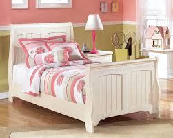 Ashley White Bedroom Furniture Cottage Retreat Twin Sleigh Bed Bedroom Furniture Beds Ashley