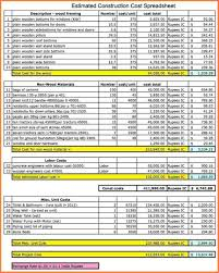 Project Cost Tracking Spreadsheet 10 Construction Cost Spreadsheet Template Excel Spreadsheets Group
