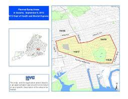 Zip Code Map Brooklyn west nile virus spray 2012