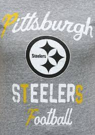 womens pittsburgh steelers touchdown tri blend t shirt