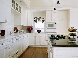 How To Paint Veneer Kitchen Cabinets Kitchen With White Cabinets Cottage Style Built In Microwave