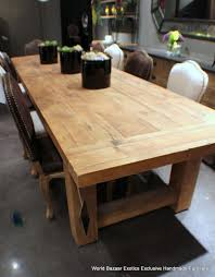 pretty furniture thick solid wood dining table with bench above
