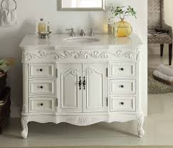 Adelina  Inch Traditional Style Antique White Bathroom Vanity - 48 bathroom vanity antique white