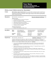 Executive Assistant Job Resume by Administrative Assistant Resume Templates Free Resume For Your