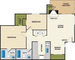 3 Bedroom Apartment Floor Plan Studio 1 2 U0026 3 Bedroom Apartments In Tukwila Wa Floor Plans